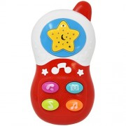 Music Take Along Tunes Phone - Baby Kids Music Development Sound Educational Mobile Telephone Toy Musical Game with Melody Lights Projections Effects