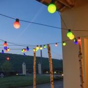 Luci Da Esterno Catenaria 10 metri con 20 lampadine colorate, led bianco caldo, non prolungabile