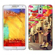 Husa Samsung Galaxy Note 3 N9000 N9005 Silicon Gel Tpu Model Vintage Umbrella