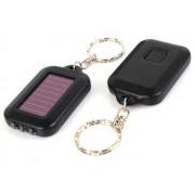 NTR LAMP09BK 3LED-es napelemes kulcstartós elemlámpa - fekete