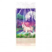 Unicorn Table Cover - Unicorn tableware. Plastic tablecover. 137cm x 259cm. Matching partyware available.