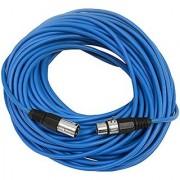 SEISMIC AUDIO - SAXLX-100 - 100' Blue XLR Male to XLR Female Microphone Cable - Balanced - 100 Foot Patch Cord