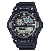 Casio Youth-Combination Analog-Digital Black Dial Mens Watch-Aeq-200W-1Avdf
