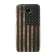 Винтидж твърд гръб с американския флаг за HTC Desire 601 Zara