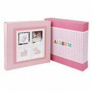 Album foto Baby Stories personalizabil 200 foto 10x15 cm slip-in notes roz