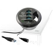 Hub USB 3.0 3 porte + 2 slot SD In-Desk Diametro 6 cm