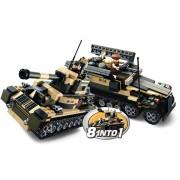 Sluban army serie combinabile in carro armato 8 in 1
