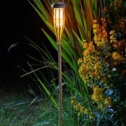 Napelemes bambusz fáklya lámpa 90 cm