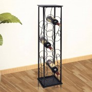 vidaXL Garrafeira de metal, suporte para 8 garrafas de vinho