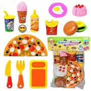AKSHATA (TM) Fast Food Lunch Play Pizza Set Toy for Kids Restaurant Role Pretend Play
