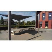 Sunfighters Vierkant 3,6 meter Zwart