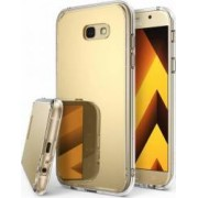 Skin Ringke Samsung Galaxy A7 2017 Mirror Royal Gold + Bonus folie protectie display Ringke