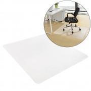 [neu.haus]® Alfombra protectora de suelo (90 x 90 cm) (semitransparente) para suelos duros de todo tipo / estera para silla / Evita arañazos / Protector