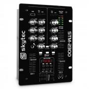 Skytec STM-2300 Mezcladora de 2 canales USB MP3 (Sky-172.740)