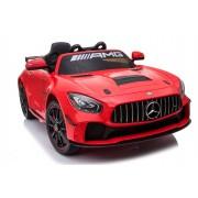 Mașinuță electrică pentru copii Mercedes-Benz GT4, Roșie, Licență Originală, Cu Baterii, Uși care se deschid, 2x Motoare, Baterie 12V, Telecomandă 2.4Ghz, Roți ușoare EVA, Servomotor, Pornire Ușoară