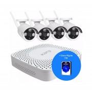 Kit de Seguridad 4 Cámaras IP Kanji + NVR + Disco Duro Western Digital 1 TB