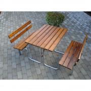 Gruppensitzbank Tisch und 2 Sitzbänke Gesamt-LxT 1000 x 1800 mm