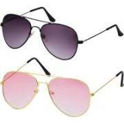 Freny Exim Aviator Sunglasses(Pink, Violet)