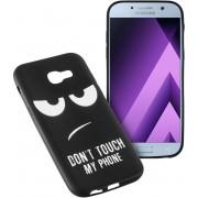MP Case zwart back cover met motiv voor Samsung Galaxy A5 2017 / 2017 Duos Achterkant/backcover