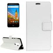 For Wileyfox Swift 2 Litchi Texture Horizontal Flip Leather Case with Holder & Card Slots & Wallet & Photo Frame (White)