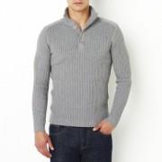 Trui met opstaande kraag in fijn tricot