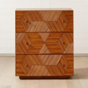 Roquette 3 Drawer Rattan Chest by CB2
