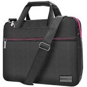 Slim Lightweight Rose Pink VanGoddy Nylon Laptop Messenger Bag Suitable for Lenovo IdeaPad / Yoga Series / ThinkPad / ChromeBook / 11 -13.5inch