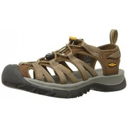 KEEN Women's Whisper Sandal,Coffee Liqueur Yellow,7.5 M US