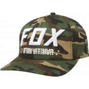 Fox Triple Threat Flexfit Cap Verde Marrón L XL