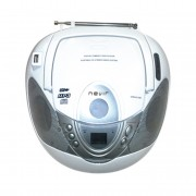 Radio cd mp3 portatil nevir nvr-474u blanco
