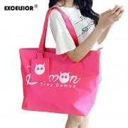 EXCELSIOR Women Shopping Handbag Waterproof Shopping Tote Zipper Sac A Main Lady Casual Purse Oxford Beach Bags Bolsas Feminina