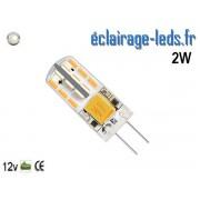 Ampoule led G4 2w SMD 3014 blanc 6000K 12v DC ref A196-2