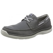 Clarks Men's Marus Edge Grey Leather Casual Loafers & Moccasins - 10.5 UK/India (45 EU)