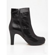 Clarks Kendra August Snake Print Boots(Black)