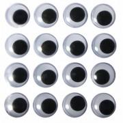 Rayher hobby materialen Decoratie oogjes opnaaibaar 8 mm