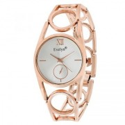 Evelyn Analogue White Dial Stainless Steel Girls Watches-eve-506 6 month warranty