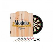 Beer Brand Wood Dart Cabinet Set with Darts and Board Modelo