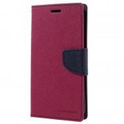 Capa tipo Carteira Mercury Goospery Fancy Diary para Samsung Galaxy S7 Edge - Cor-de-Rosa Forte / Azul Escuro