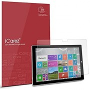 iCarez [HD Clear] Screen Protector for Microsoft Surface Pro 4 [Unique Hinge Install Method With Kits ] Easy Install with Lifetime Replacement Warranty [2-Pack] - Retail Packaging