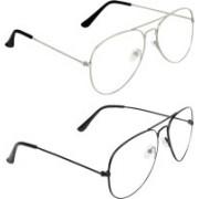 Zyaden Aviator, Aviator Sunglasses(Clear, Clear)