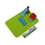 Lego Duplo (Big Dot) Compatible Mega Bloks Compatible Brick Building Base 15 X 10 Apple Green Baseplate By Fun For Life
