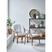 Sika Design London fåtölj & fotpall set – Antique