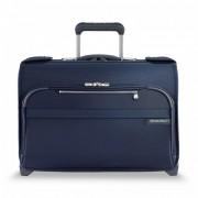 Briggs and Riley Baseline Wheeled Garment Cabin Bag - Navy Blue
