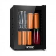 Klarstein MilkySafe, lednice na nápoje, A+, 1 kovová polička, skleněná dvířka, černá