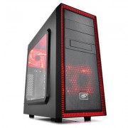 Кутия за компютър deepcool tesseract sw-rd, 1 x 120mm red led, atx/micro atx/mini-itx, dp-atx-tsrbkrd