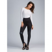 CheapChic Moto Riding Coated Leggings Black
