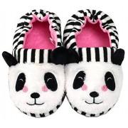 Efeng Pantuflas de felpa suave para niños y niñas con diseño de animales, cálidas y cálidas botas de invierno para interiores y casas, calcetines ligeros, suela antideslizante para niños pequeños, Panda, 9-10 Toddler