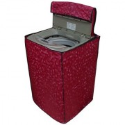 Glassiano pink colored waterproof and dustproof washing machine cover for fully automatic IFB RDW 6.5KG washing machine