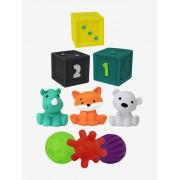 INFANTINO Conjunto de atividades sensoriais, com 9 elementos, da INFANTINO verde medio liso