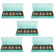 Set of 5 17 Rod Multicolor Abacus with Box